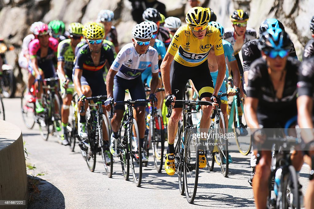 Chris Froome of Great Britain and Team Sky during Stage Eighteen of the 2015 Tour de France, a 186.5km stage between Gap and Saint-Jean-de-Maurienne on July 23, 2015 in Gap, France.
