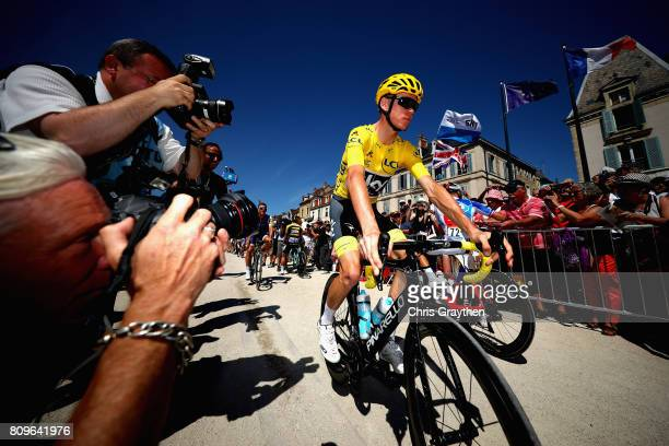 Chris Froome of Great Britain and Team Sky during stage six of the 2017 Le Tour de France a 216km road stage from Troyes to to Vesoul on July 6 2017...