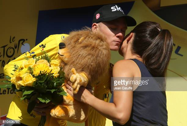 Chris Froome of Great Britain and Team Sky retains the yellow jersey of leader after stage 7 of the Tour de France 2017, a stage between Troyes and...