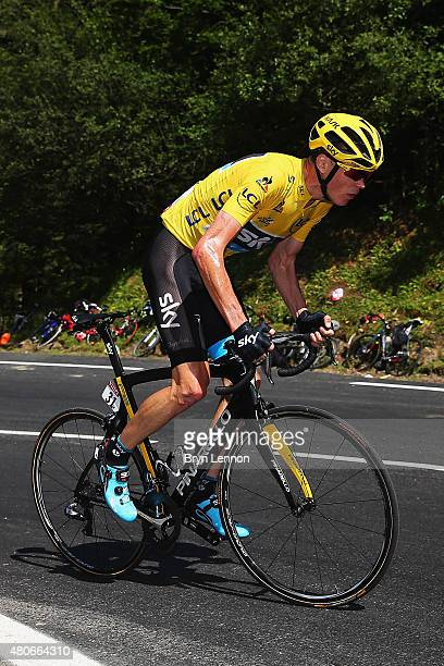 Chris Froome of Great Britain and Team Sky rides during stage ten of the 2015 Tour de France a 167 km stage between Tarbes and La PierreSaintMartin...