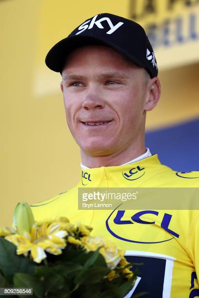 Chris Froome of Great Britain and Team SKY took the yellow jersey and race lead on stage five of the 2017 Tour de France, a 160.5km road stage from...