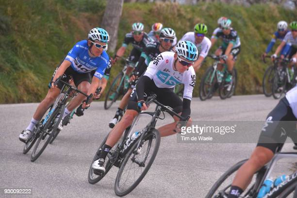 Chris Froome of Great Britain Geraint Thomas of Great Britain Blue Leader Jersey during the 53rd TirrenoAdriatico 2018 Stage 4 a 219km stage from...