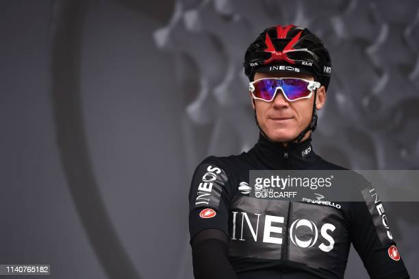 Chris Froome of Team Ineos poses before the start of the first stage of the Tour de Yorkshire in Doncaster north England on May 2 2019 Chemicals...