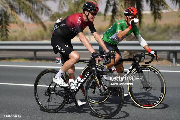 Chris Froome of The United Kingdom and Team INEOS / Caleb Ewan of Australia and Team Lotto Soudal Green Points Jersey / during the 6th UAE Tour 2020...