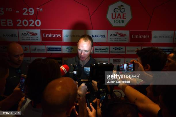 Chris Froome of The United Kingdom and Team INEOS / Press / Media / Interview / during the 6th UAE Tour 2020 Press Conference / #UAETour / @uae_tour...