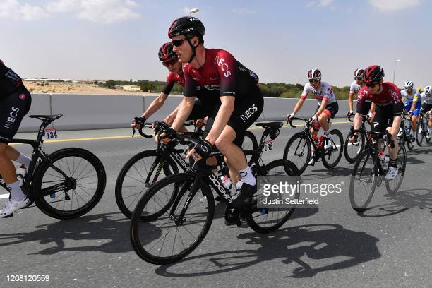 Chris Froome of The United Kingdom and Team INEOS / Salvatore Puccio of Italy and Team INEOS / Peloton / during the 6th UAE Tour 2020 Stage 1 a 148km...