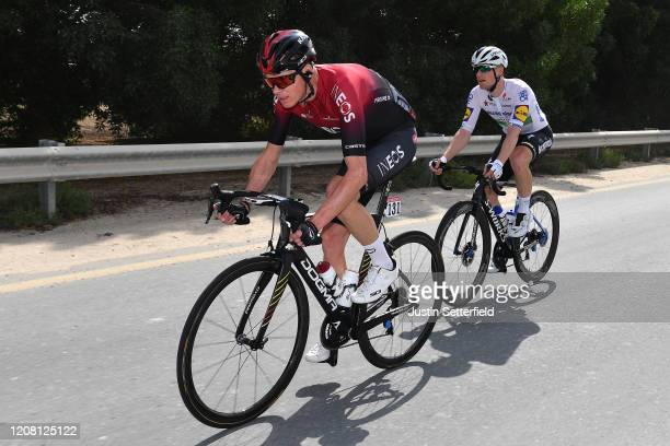 Chris Froome of The United Kingdom and Team INEOS / Sam Bennett of Ireland and Team Deceuninck Quick Step / during the 6th UAE Tour 2020 Stage 1 a...