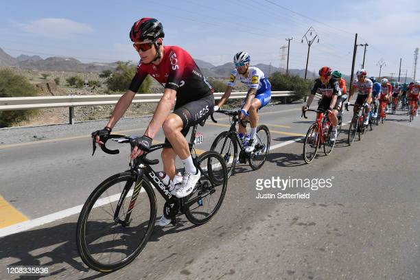 Chris Froome of The United Kingdom and Team INEOS / Stijn Steels of Belgium and Team Deceuninck Quick Step / during the 6th UAE Tour 2020 Stage 2 a...
