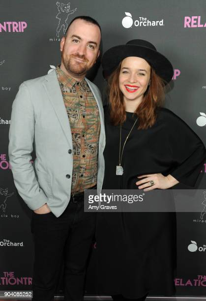 Chris Gabriel and Renee Felice Smith attend The Relationtrip Los Angeles Premiere on January 11 2018 in Los Angeles California