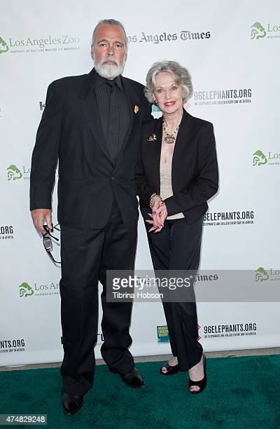 Chris Gallucci and Tippi Hedren attend the premiere of 'Illicit Ivory' hosted by Tippi Hedren at Los Angeles Zoo on May 26 2015 in Los Angeles...