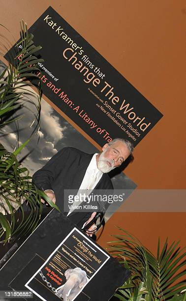 Chris Gallucci speaks at Kat Kramer's Films That Changed The World Elephants And Man A Litany Of Tradegy at Sunset Gower Studios on January 20 2011...