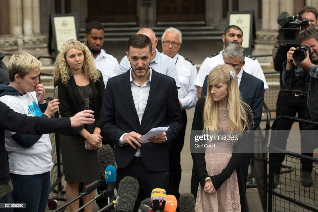 Parents Of Charlie Gard End Their Legal Fight Over Son's Treatment : News Photo