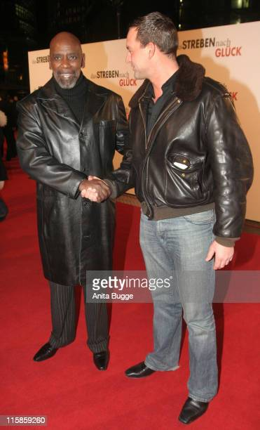 Chris Gardner and Christian Kahrmann during 'The Pursuit of Happyness' Germany Premiere January 9 2007 at Movietheatre Cinestar Sony Center in Berlin...