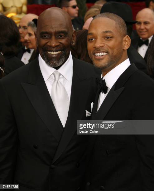 Chris Gardner and Will Smith nominee Best Actor in a Leading Role for The Pursuit of Happyness at the Kodak Theatre in Los Angeles California