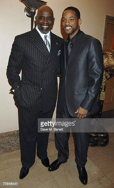 Chris Gardner on whose life the film is based with actor Will Smith attend the drinks reception prior to the UK premiere of 'Pursuit Of Happyness' in...