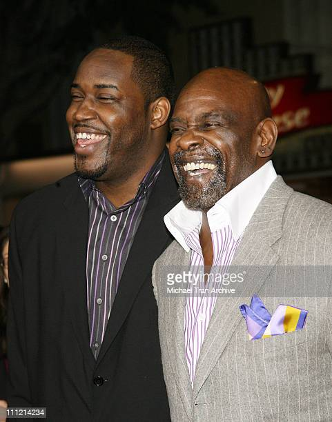Chris Gardner with son during 'The Pursuit of Happyness' World Premiere Arrivals at Mann Village Theater in Westwood California United States