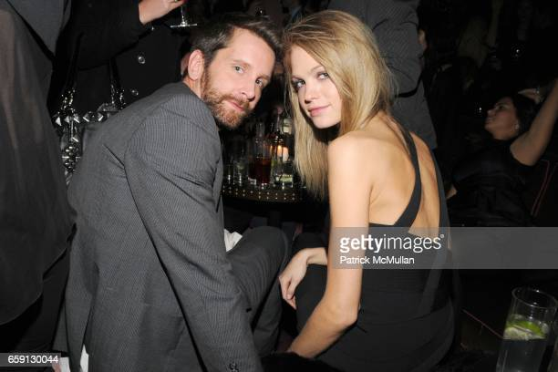 Chris Gay and Erin Heatherton attend MARILYN AGENCY Celebrates 10 Anniversary at ROSE BAR at Rose Bar on February 19 2009 in New York City