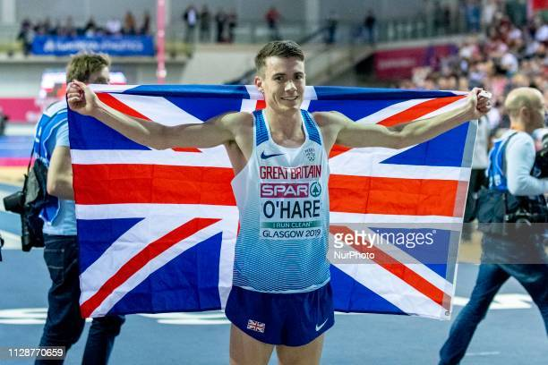 O'HARE Chris GBR competing in the 3000m Men Final event during day TWO of the European Athletics Indoor Championships 2019 at Emirates Arena in...