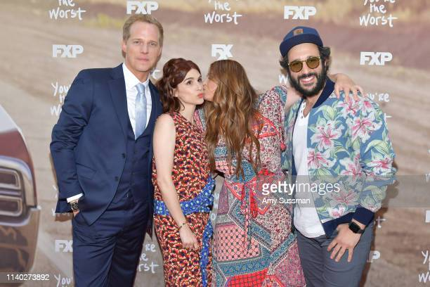 Chris Geere Aya Cash Kether Donohue and Desmin Borges attend FXX's You're The Worst For Your Consideration event at Regal Cinemas LA Live on April 03...
