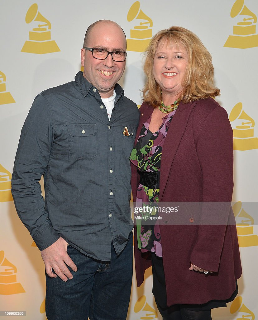 Chris Gehringer (L) and President of The Recording Academy's New York chapter Linda Lorence Critelli attend GRAMMY Nominee Reception at The Recording Academy NY Chapter on January 23, 2013 in New York City.