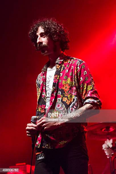 Chris Georgiadis of Turbowolf performs on stage at The Ritz Manchester on November 2 2014 in Manchester United Kingdom