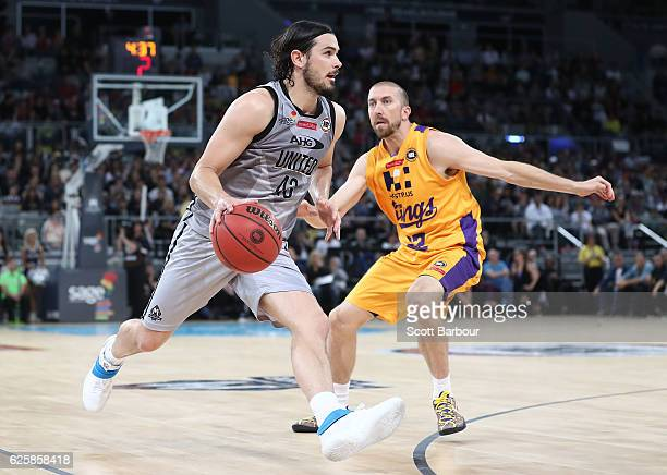 Chris Goulding of Melbourne United controls the ball during the round eight NBL match between Melbourne United and the Sydney Kings at Hisense Arena...