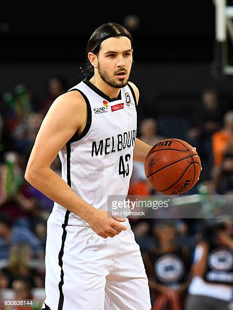 Chris Goulding of Melbourne United looks to pass the ball during the round 13 NBL match between Cairns and Melbourne on December 29 2016 in Cairns...