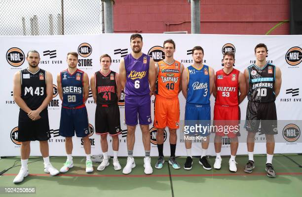Chris Goulding of Melbourne United Nathan Sobey of the Adelaide 36ers Emmett Naar of the Illawarra Hawks Andrew Bogut of the Sydney Kings Alexander...
