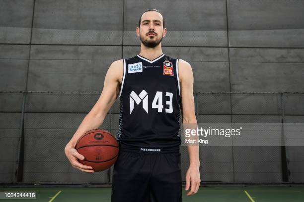 Chris Goulding of Melbourne United poses during the NBL First Ever Apparel Uniform Launch athe the Ultimo Community Centre on August 27 2018 in...