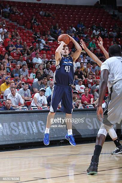 Chris Goulding of the Dallas Mavericks shoots the ball against the Minnesota Timberwolves at the Samsung NBA Summer League 2014 on July 12 2014 at...