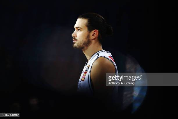 Chris Goulding of United during warm up prior to the round 18 NBL match between the New Zealand Breakers and Melbourne United at Spark Arena on...