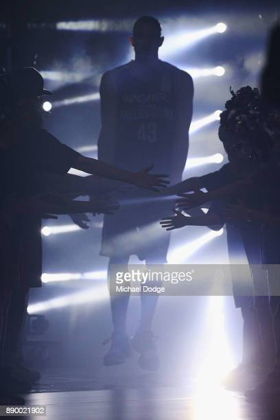 Chris Goulding of United enters during the round nine NBL match between Melbourne United and the Sydney Kings at Hisense Arena on December 11 2017 in...