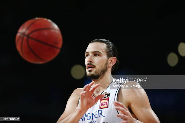 Chris Goulding of United in action during the round 18 NBL match between the New Zealand Breakers and Melbourne United at Spark Arena on February 11...