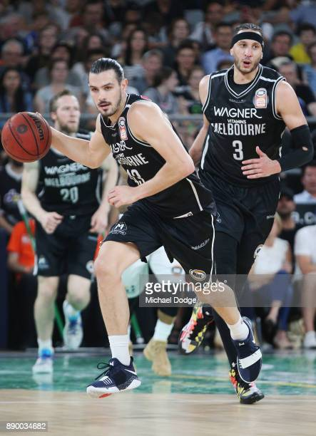 Chris Goulding of United runs with the ball during the round nine NBL match between Melbourne United and the Sydney Kings at Hisense Arena on...