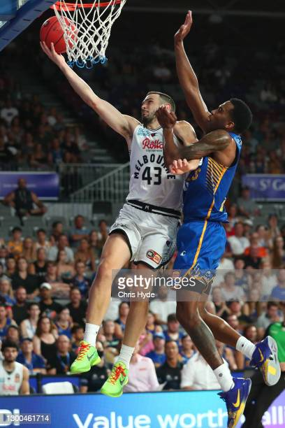 Chris Goulding of United shoots during the round four NBL match between the Brisbane Bullets and Melbourne United at Nissan Arena, on February 05 in...