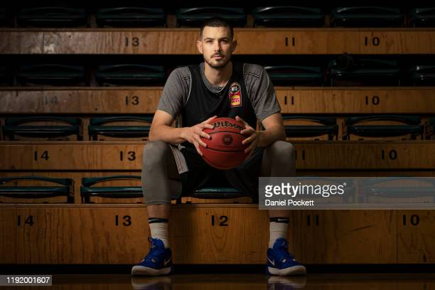 Chris Goulding poses for a photograph a Melbourne United NBL media opportunity at the Melbourne Sports and Aquatic Centre Showcourts on December 05,...