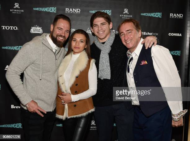 Chris Gravagna Sofia Gravagna Samuel Ring and Bradford Rand attend the Gamechanger Films reception at the RAND Luxury Escape during the 2018 Sundance...