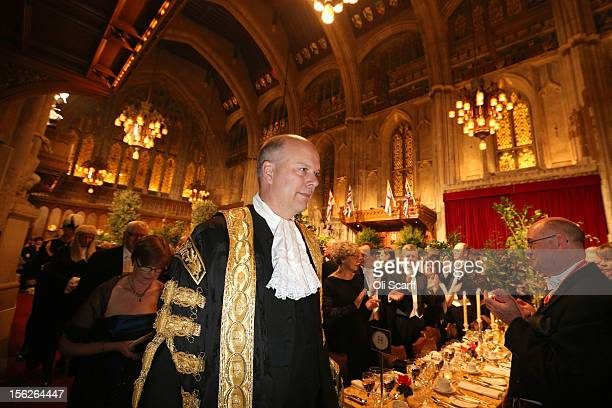 Chris Grayling the Justice Secretary arrives at the Guildhall to attend The Lord Mayor's Banquet on November 12 2012 in London England The New Lord...