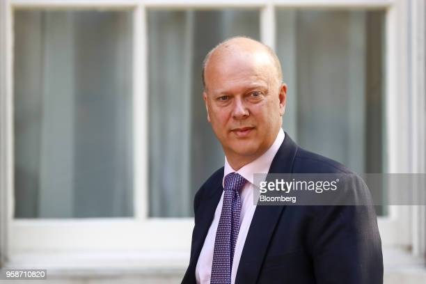 Chris Grayling UK transport secretary arrives to attend a meeting of cabinet minsters at number 10 Downing Street in London UK on Tuesday May 15 2018...