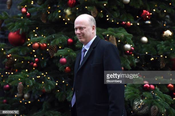 Chris Grayling UK transport secretary departs following a cabinet meeting at number 10 Downing Street in London UK on Tuesday Dec 19 2017 European...