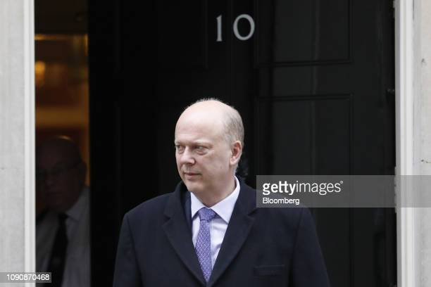 Chris Grayling UK transport secretary departs number 10 Downing Street following a weekly meeting of cabinet ministers in London UK on Tuesday Jan 29...