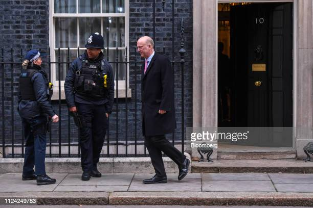 Chris Grayling UK transport secretary departs number 10 Downing Street following a weekly meeting of Cabinet minsters in London UK on Tuesday Feb 12...