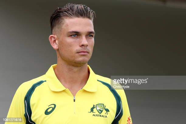 Chris Green of CXI looks on during the International Tour match between the CXI and South Africa at Allan Border Field on November 14 2018 in...
