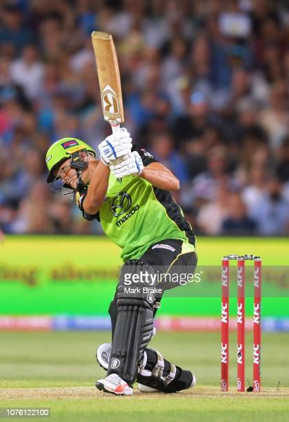 Chris Green of the Sydney Thunder bats during the Big Bash League match between the Adelaide Strikers and the Sydney Thunder at Adelaide Oval on...