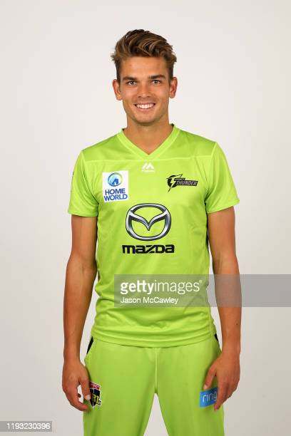 Chris Green poses during the Sydney Thunder Big Bash League headshots session on December 11, 2019 in Sydney, Australia.