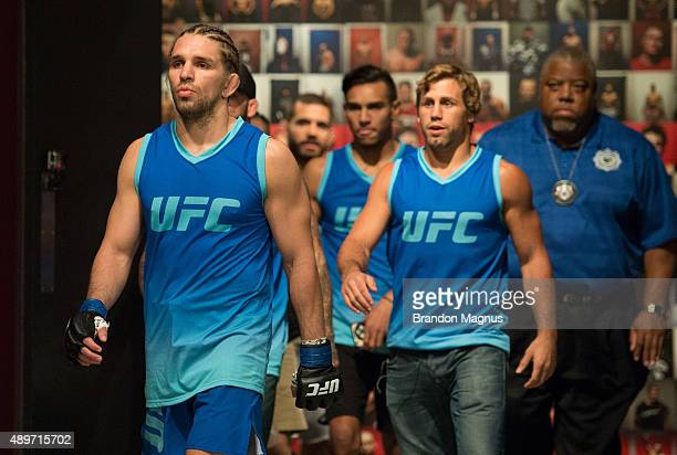 Chris Gruetzemacher prepares to enter the Octagon before facing Sascha Sharma during the filming of The Ultimate Fighter: Team McGregor vs Team Faber...