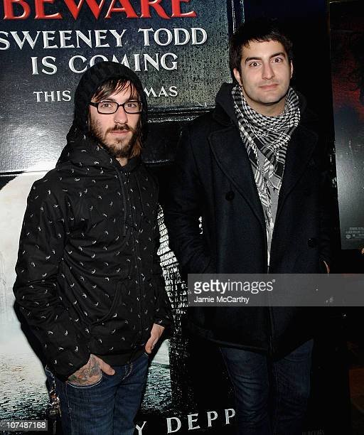 Chris Guglielmo and Nick Ghanbarian of the band Bayside attend Sweeney Todd The Demon Barber of Fleet Street Special Screening for the New York Goth...