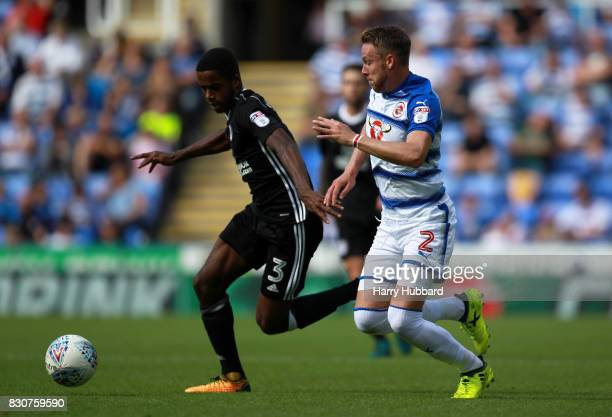 Chris Gunter of Reading and Ryan Sessegnon of Fulham in action during the Sky Bet Championship match between Reading and Fulham at Madejski Stadium...