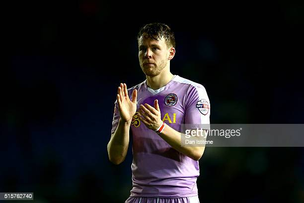 Chris Gunter of Reading applauds the fans after the Sky Bet Championship match between Brighton and Hove Albion and Reading at Amex Stadium on March...