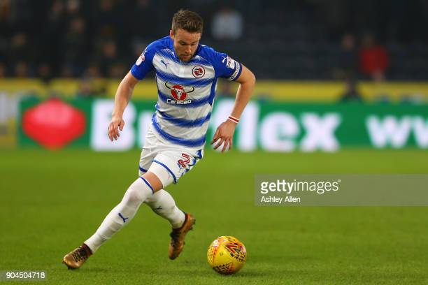 Chris Gunter of Reading during the Sky Bet Championship match between Hull City and Reading at KCOM Stadium on January 13 2018 in Hull England